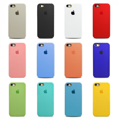 Чехол для iPhone 5/5S/SE  Apple Silicone Case Simple