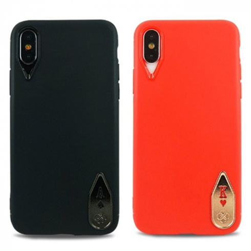 Чехол для iPhone X  Totu Poker Case силикон