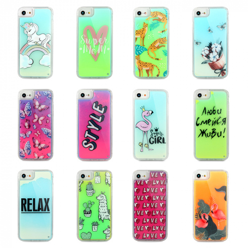 Чехол для iPhone 6/7/8  Neon case Lux силикон